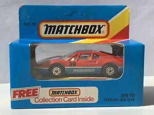 Matchbox MB70 Ferrari 308 GTB Mint Unopened Box.