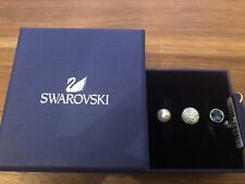 BNIB SWAROVSKI FORWARD CRYSTAL DARK BLUE, PEARL & CLEAR DOUBLE RING SIZE 55.