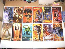 1995 WILDSTORM GALLERY WIDEVISION BASE 127 CARD SET! JULIE BELL ART OF CHIODO!