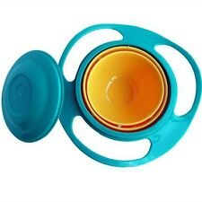 360 Degree Rotate  Baby Universal Spill-Proof Gyro Bowl Dishes Lid Set Toy