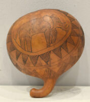 African Half Gourd Cowrie Shell Container Kamba Kenya