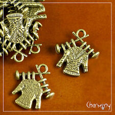Bronze Knitting on Needles charms ~PACK of 10~ knit sweater pendant bead