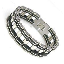 10pcs Wholesale Lots 210mm 304L Stainless Steel Men's Bracelet