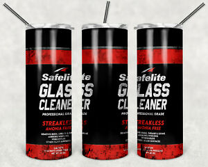 Custom 20oz Tumbler Safelite Glass Cleaner With Straw FREE SHIPPING!