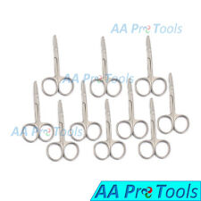 """AA Pro: 10 Pcs Spencer Stitch Scissors 3-1/2"""" Delicate With Suture Removal Hook"""