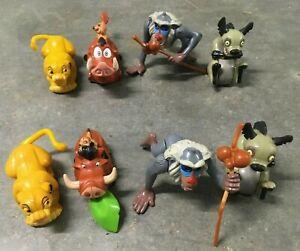 Burger King 1994 The Lion King toys lot of 4 Simba Pumbaa Timon Rafiki Ed