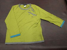 Les Copains - Green Crystal Dragonfly Detail Knit Top Size 48 Retail $890 Blue