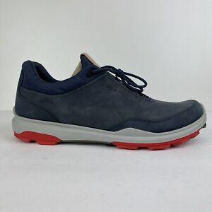 ECCO biom Hybrid 3 Gore-tex Spikeless Golf Shoes Mens 44 Wide 10 Blue