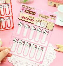 10 Pcs Hello Kitty Note Office Bookmarkookmark School Supplies Study Article