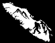 VANCOUVER ISLAND DECAL SASQUATCH WITH MOUNTAINS