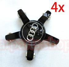 4 Audi A8 Q7 Noir Cache Jante moyeux Centre roue 4L0601165D (4L0 601 165 D) 77mm