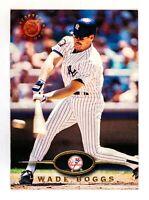 Wade Boggs #85 (1995 Topps Stadium Club) Baseball Card, New York Yankees, HOF