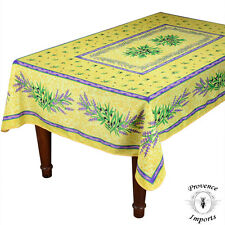 "Matisse Yellow French Provencal Stain Resistant Tablecloth - 59x88"" Rectangular"