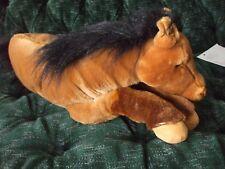 "20"" E & J Classic Horse laying down very sleepy eyes brown black mane/ tail"