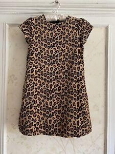 NWT Janie And Jack Leopard Chic Girls Velveteen Dress 10