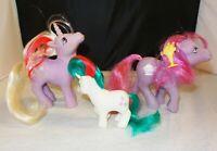 My Little Pony - Lot of 3 G1 - 1984 Powder, 1987 Sherbet, 1986 Gusty Beddie Eyes