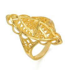 Gold Color Ring For Women Gifts High Quality Geometric Shape Copper Decoration