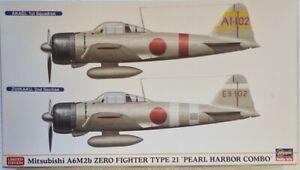 Hasegawa 1/72 Mitsubishi A6M2b Zero Fighter Type 21 Pearl Harbor Combo Model Kit