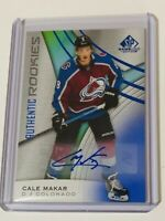 2019-20 SP GAME USED AUTHENTIC ROOKIES BLUE PARALLEL AUTO CALE MAKAR AVALANCHE