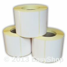 More details for 102mm x 76mm white thermal direct zebra printer labels 500 per roll 25mm core