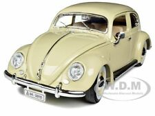 1955 Volkswagen Beetle Kafer Beige 1/18 Diecast Model Car By Bburago 12029