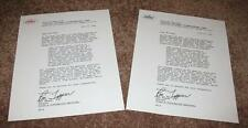 Beatles Butcher Cover Recall Letter, 4 ( w / colored letterheads ) & 4 ( B & W )