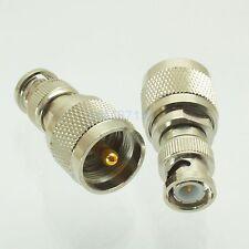 1pce Adapter UHF PL259 male plug to BNC male plug RF connector straight M/M