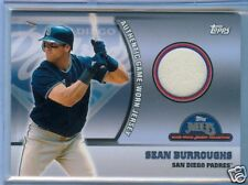 Sean Burroughs Topps MLB Game Used Jersey Collection