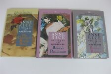 Anne Rice A N Roquelaure Lot 3 HC Sleeping Beauty Claiming Punishment Release