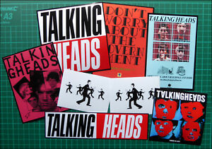 TALKING HEADS, Punk Rock, Exclusive Set of 8 Glossy Vinyl Promo Stickers