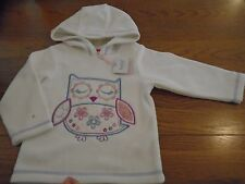 BNWT baby girl M&Co fleece hooded top with owl. 12-18 months. 1/1