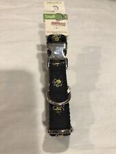 Petco Dog Small Dog Collar Black W/Bumble Bees Metal Closure Clasp