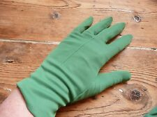 Vintage 50s Raneka Nylon Bright green Day Tea Dance Wedding Opera Gloves