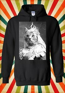 Cat Queen Kitten Meow Funny Cool Men Women Unisex Top Hoodie Sweatshirt 1042