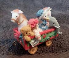 """VINTAGE ENESCO Cherished Teddy """"TOY CAR"""" Train Car Figurine 1996"""