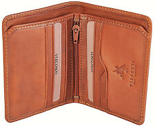 Visconti Luxury Italian Tan Leather Slim Bifold Wallet Boxed Vcn17