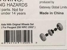 Autoart 13505 1:32 peugeot 206 wrc'02 front axle with original Wheels slot parte