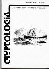 1 Cryptologia Quarterly Journal Cryptology Ciphers Codes Communication 1992