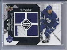 08-09 2008-09 BLACK DIAMOND ALEXANDER STEEN QUAD JERSEY BDJ-ST MAPLE LEAFS