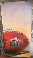 SUPER BOWL 50 2 SIDED HEAVY DUTY BANNER 6'X3' WEATHER PROOF LEVI STADIUM BANNER