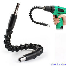 FLEXIBLE FLEXI 295mm SCREWDRIVER EXTENSION BAR DRILL DRIVER SHAFT CONNECT LINK