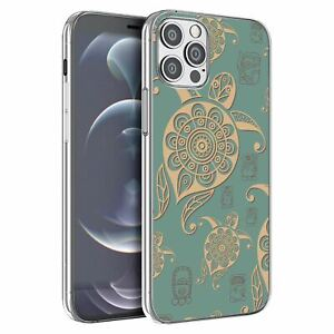 For Apple iPhone 12 Mini Silicone Case Turtles Vintage Pattern - S1966