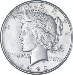Choice AU/UNC 1922 Peace Silver Dollar - 90% Silver *229