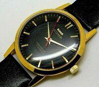 Hmt Sona Slim Hand Winding Gold Plated Men Vintage 17Jewel India Watch Run Order