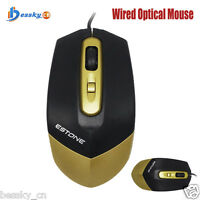 USB 3 Button Optical Scroll Wired Gaming Mouse Mice For PC Laptop Desktop New