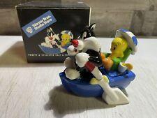 Tweety Bird + Sylvester On Boat Ceramic Salt & Pepper Shaker Set WB NEW w/ Box