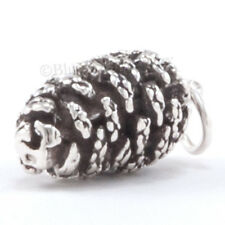 3D PINECONE .925 Sterling Silver CHRISTMAS Pendant Charm Pine Cone bin in store!