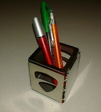 Portapenne logo DUCATI acciaio inox scrivania NUOVO gadget idea regalo desk 1098