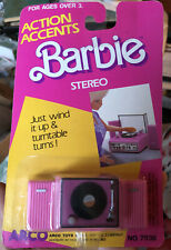 New 1987 Action Accents BARBIE Stereo by ARCO TOYS LTD. 7936
