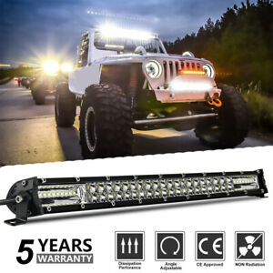 20'' Dual Row LED Light Bar Combo Offroad Driving Front Bumpe Lamp Truck SUV 4WD